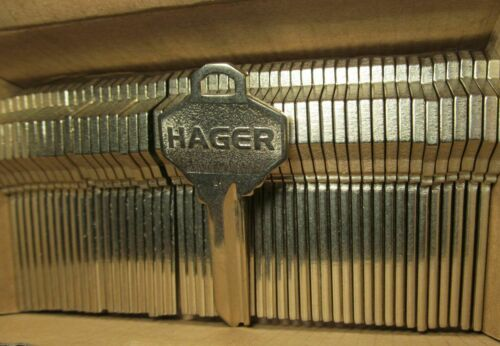 50-PACK HAGER 3907 H1 KEYWAY UNCUT KEY BLANKS 7-PIN DO NOT DUPLICATE USA MADE