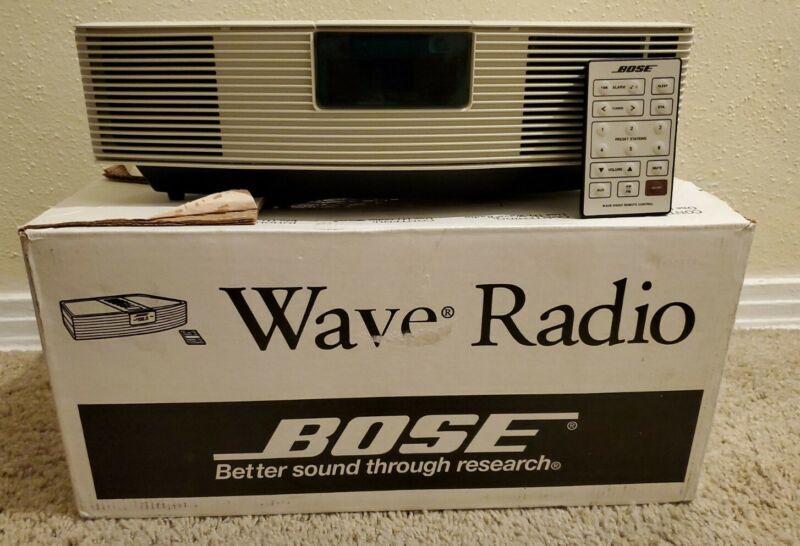 Bose Wave Radio White Stereo Alarm Clock Model AWR1-1W Near Mint Ship Free