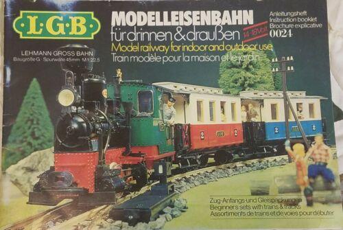 Lehmann Gross Bahn German Instruction Booklet 0024 - $0.99