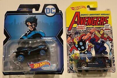 Hot Wheels 2-Car Lot - DC Nightwing (2018) / The Avengers Black Panther (2017)