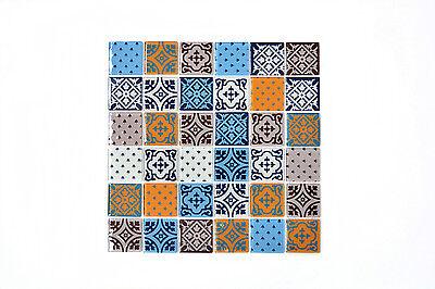 12 X 12 Mosaik (KEM Mosaik Mosaikmatte Transluzent Quadrat Crystal Optik mix glänzend 300x300 mm)