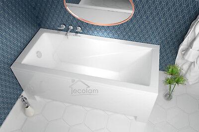 moderne Badewanne Rechteck Wanne 120 130 140 150 160 170 x 70 -/+ Schürze Ablauf
