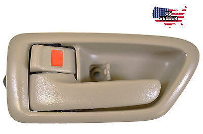Inside Tan Front  Rear Left Driver Side Door Handle for 1997 2001 TOYOTA CAMRY