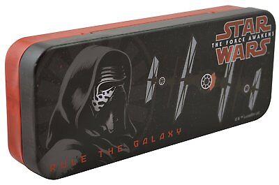 The Force Awakens Star Wars Kylo Ren Tin Pencil Box Case Disney Lucas - Star Wars Pencil Case