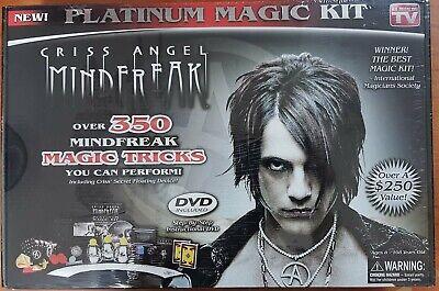 Criss Angel Mindfreak Platinum Magic Kit 350 Tricks New (EMS ONLY)