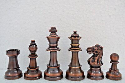 Brass metal staunton chess pieces set king 3.4