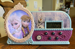Disney Frozen Night Glow Let It Go Alarm Clock, Elsa, Anna, Olaf Light & Song