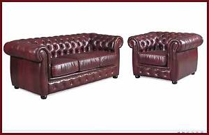 BRAND NEW LOUNGE CHESTERFIELD 100% COW LEATHER. RENTAL OPTION. Ipswich Region Preview