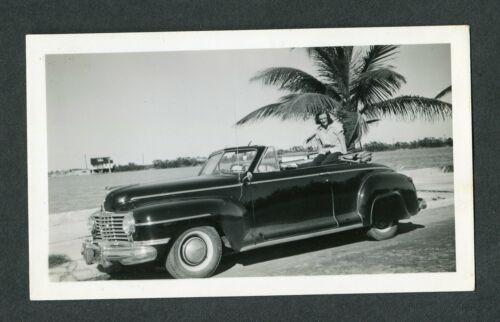 Vintage Car Photo Woman w/ RARE 1942 Dodge Convertible 425005