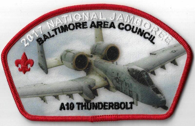 2017 National Jamboree A10 Thunderbolt Baltimore Area Council RED Bdr. [MX-9496]