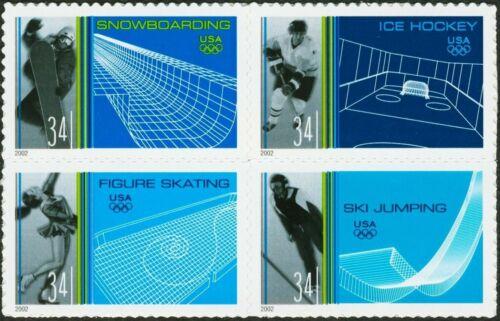 20 Mint WINTER OLYMPICS STAMPS: 2002 Salt Lake City, UT, Olympic Games, Sports
