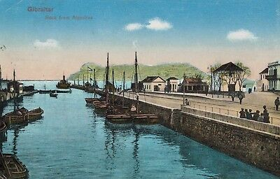 Gilbraltar,Brit.Oversees Territory,Port & Rock from Algeciras,Used,1926