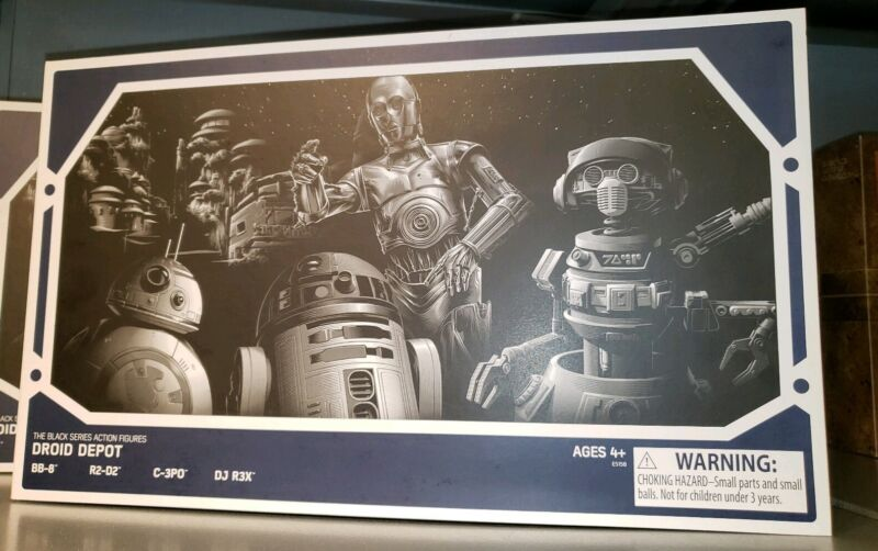 """Star Wars Galaxy's Edge Color Changing 3.75/"""" Four Droid Depot Action Figures"""