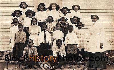 Antique African American Real Photo Postcard RPPC Class School  - BHPCRPPC01
