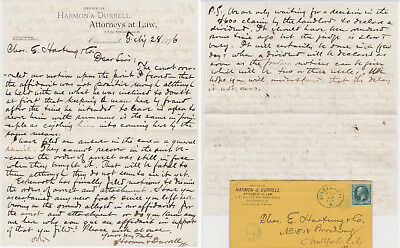 Judson Harmon Attorney General 1895-1897 signed letter dated Feb 28 1876