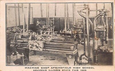 IL - RARE! 1909 Interior Machine Shop High School in Springfield, Illinois