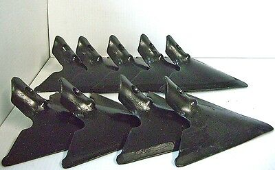 Lot Of 9 Danish Sweep Single Hole 9 - 714 Thick 716 Square Hole Cultivator