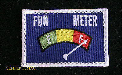 FUN METER HAT PATCH US MARINES AIR FORCE ARMY NAVY USCG FLIGHT SUIT PIN UP GIFT Marine Flight Suit Patches