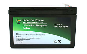 12V-9Ah-Lithium-Iron-Phosphate-LiFePO4-SEALED-Battery-w-PCM
