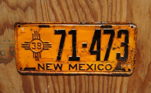 1939 New Mexico License Plate