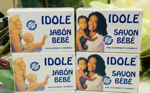 4-Pack IDOLE BABY SOAP with Glycerin & Vitamin E - 75g (each) SAVON BEBE JABON