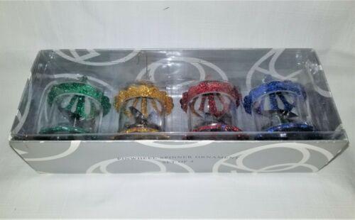 Vintage Dept 56 Pinwheel Spinner Ornaments Set of (4) - 2001 F/S - New Like