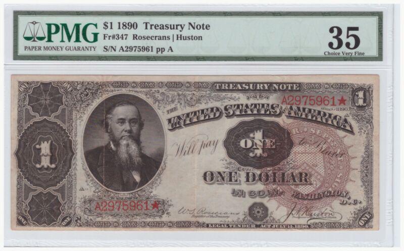$1 1890 Treasury Note FR# 347 PMG 35