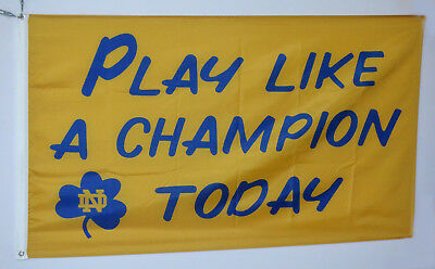 Notre Dame Fighting Irish Play Like A Champion Today 3X5FT FALG US Shipper - Notre Dame Flag