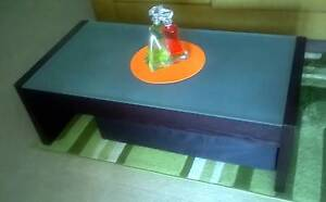 Solid Wood Coffee Table With Frosted Glass Top Westmead Parramatta Area Preview