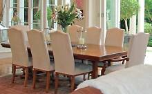 LARGE DINING TABLE AND 8 CHAIRS North Sydney North Sydney Area Preview