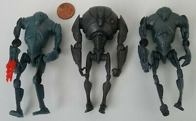"Loose Lot 3 Star Wars Clone ROTS Saga Super Battle Droid 3.75"" Action Figures"