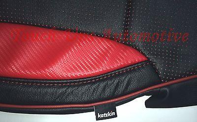 2014-2015 GMC Crew Cab SLE Katzkin Leather Sierra LT RED Black Custom
