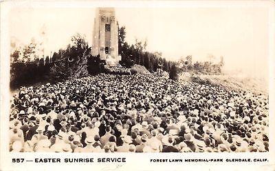 Forest Lawn Memorial (Glendale Kalifornien Forest Lawn Memorial Park ~ Easter Sonnenaufgang ~ Echt)