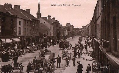 GLADSTONE STREET CLONMEL CO. TIPPERARY IRELAND VALENTINES RP POSTCARD No. 58537