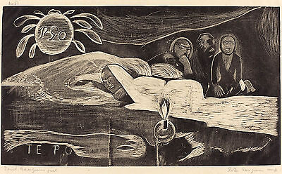 Gauguin Woodcuts: Te Po - The Long Night - Fine Art Print