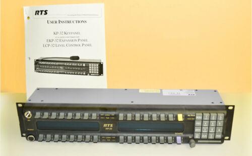 Telex RTS KP-32 Intercom Panel  RTS KP32BLK- 5F-NC, NEW, NIB, Bosch!