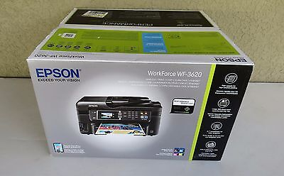 New sealed Epson WF-3620 Wireless All-in-One Color Inkjet Printer Copier Scanner