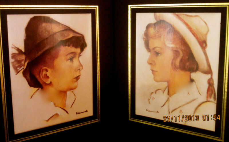 LOT - TWO RARE M. I. HUMMEL ART PRINT COPY, ORIGINAL OWNED BY ROBERT L. MILLER!