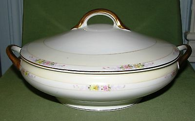 Antique Nippon Noritake China The Linwood Covered Vegetable Serving Bowl Dish