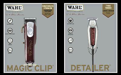 Wahl Inalámbrico Magic Clip 5STAR Cortapelos + Wahl Ancho Detailer Trimmer