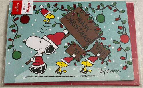SNOOPY CHRISTMAS POP-UP CARD - HALLMARK JAPAN