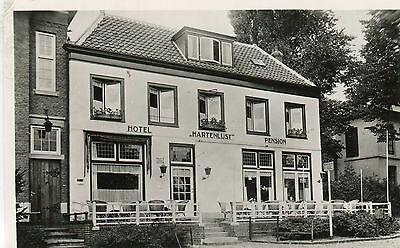Netherlands Bloemendaal - Hotel Restaurant Hartenlust old real photo postcard
