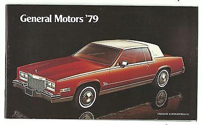 1979 Advertising Promotional Brochure GENERAL MOTORS Chevrolet Cadillac Pontiac