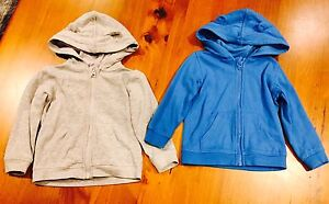 2 X Toddler Size 2 Hoodies - Blue & Grey Aspendale Gardens Kingston Area Preview