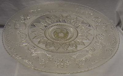 "VINTAGE INDIANA TIARA SANDWICH GLASS PEDESTAL STAND 13"" CAKE PLATE"