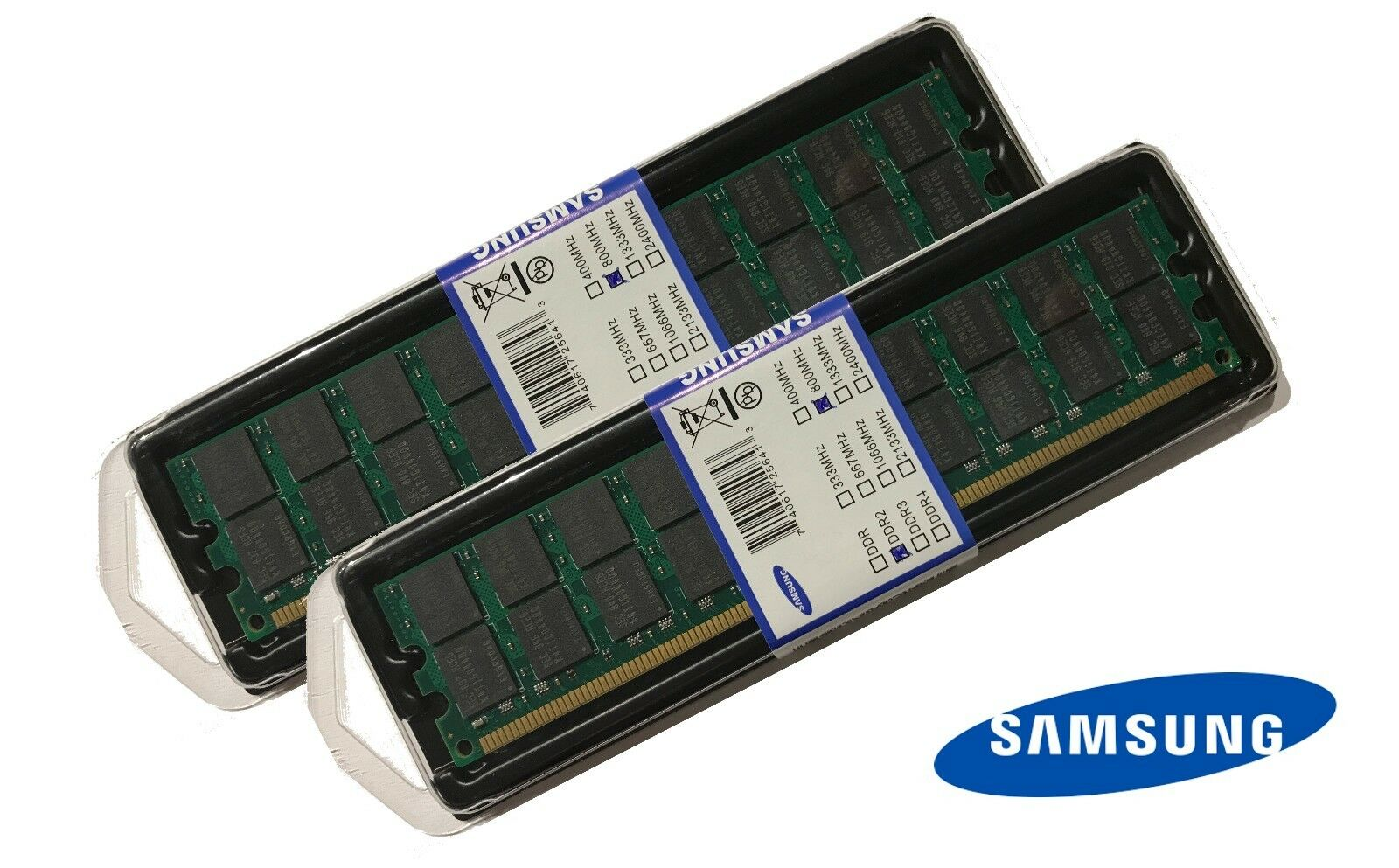 8GB (2 x 4GB) DDR2 RAM PC2-6400 800/667/533 MHz SAMSUNG Arbeitsspeicher AMD