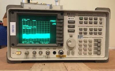 Eb01323 Hpagilent 8563e 30 Hz To 26.5 Ghz Portable Spectrum Analyzer Working