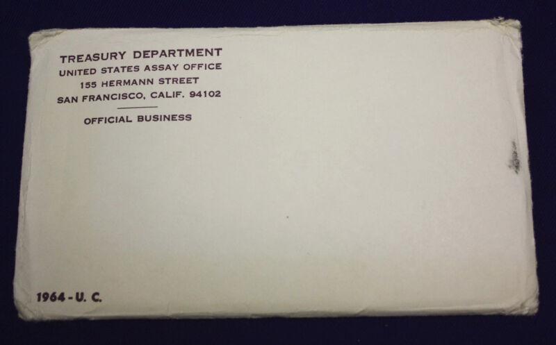 "1964 Official U.S. Mint Set. Complete and original. 10 coins Both ""P"" & ""D"""