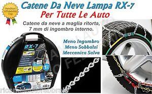 Catene da neve Rombo 7mm Lampa RX-7 NISSAN ALMERA (2000) Gomme 175/70R14 16383