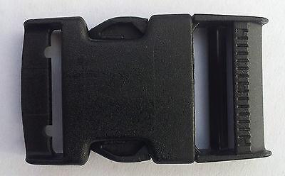NEXUS HIGH STRENGTH 2x50mm Black PlasticTri Glide Buckle FASTENINGS FOR WEBBING